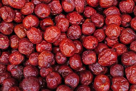 Jujube dates in an oriental bazaar in selective focus Stok Fotoğraf