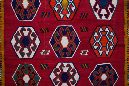 Turkish rug or carpet decoration pattern