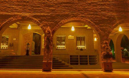 Ankara/Turkey-March 02 2019: Haci Bayram Mosque in the night