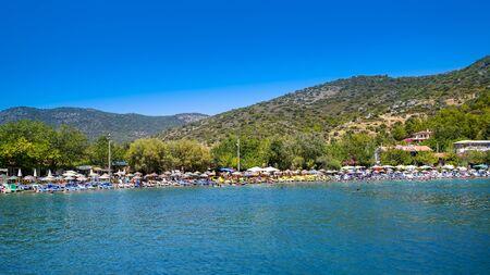 Datca/Turkey - August 18 2018: View from Hayitbuku bay near Mesudiye