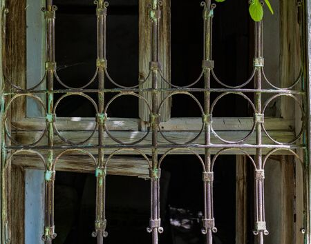 Iron railing of an old window without welding