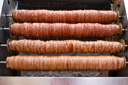 Kokorec made with sheep bowel cooked in wood fired oven. Popular in Turkey.
