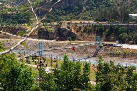 Tunceli, Turkey-September 18 2020: Tunceli city with munzur river Editorial