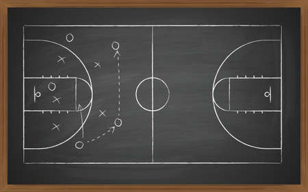 cancha de basquetbol: cancha de baloncesto a bordo