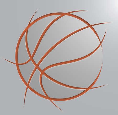 basketbal bal Stock Illustratie