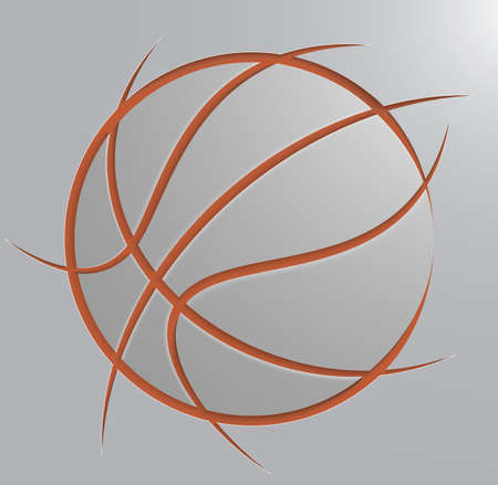 basketball ball Ilustrace