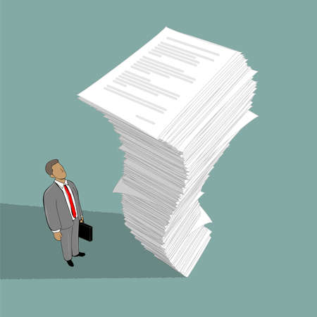 stack of documents: image of stack of paper
