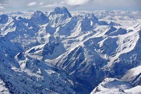 elbrus: View from Elbrus Stock Photo