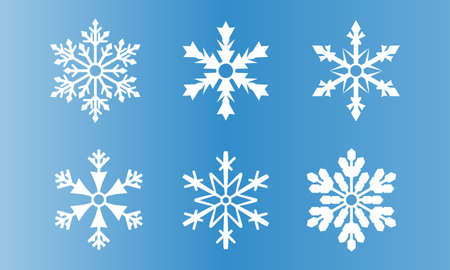 Set of Snowflake icon.