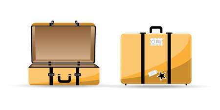 Vector illustration of travel bags