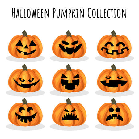Halloween Pumpkin collection. 矢量图像
