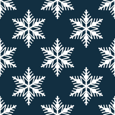Christmas elements seamless pattern with Christmas icons with snowflake. design for happy winter holiday, Xmas and New Year. Ilustracja