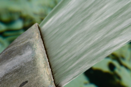 Close up of water spout in an fountain