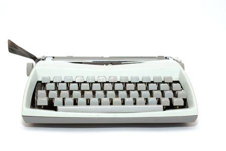 typewriter isolated on a white background  photo