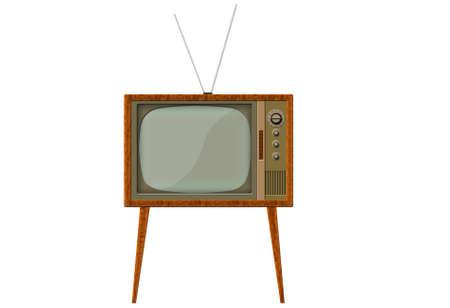 Analog retro tv with wood frame Stock Photo - 6504445