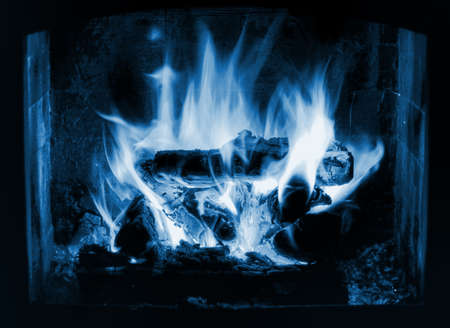 icy blue flames Stock Photo