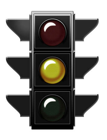Traffic light with yellow light  Stock Photo - 6559246