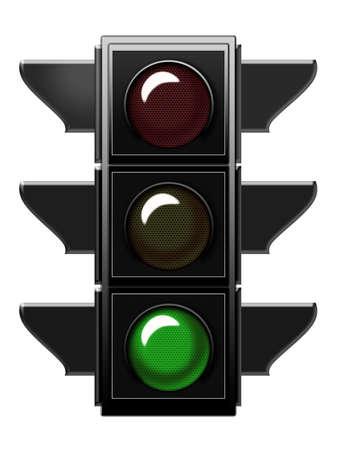 Traffic light with green light Stock Photo - 6559244