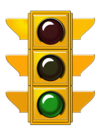 Traffic light with green light  Stock Photo - 6559245