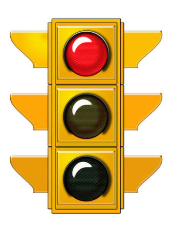 Traffic light with red light  Stock Photo - 6559241