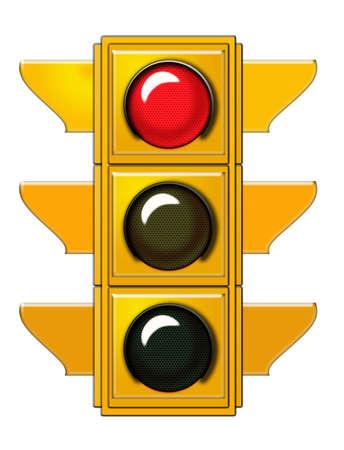 semaphore: Traffic light with red light  Stock Photo