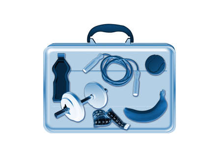 Xray scan detects training equipment in briefcase Stock Photo - 6559247