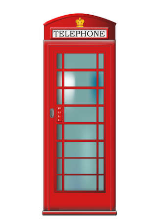 English red telephone booth Vector