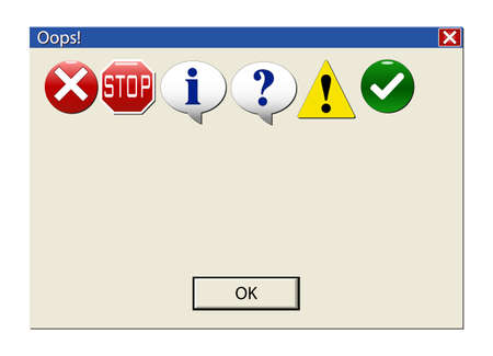 Create your own error or information message. Classic computer information signs.