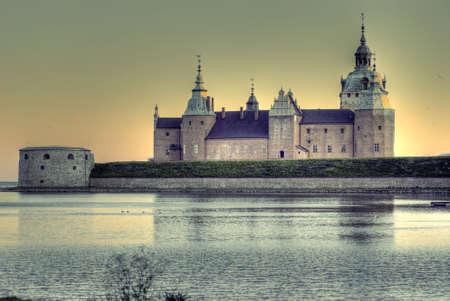 Kalmar castle in evening light Archivio Fotografico