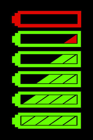 indicatore: simbolo di vettore indicatore di livello batteria