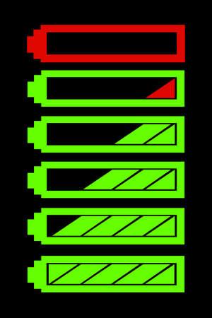 battery level indicator vector symbol