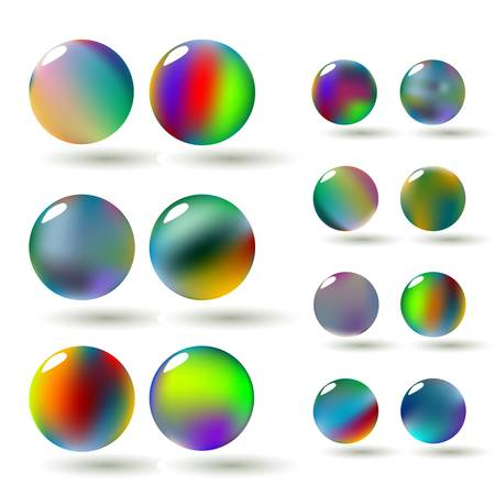 A set of glossy colorful vector spheres Stock Vector - 9844897