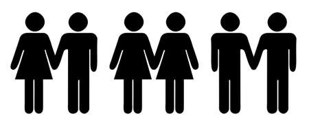 Stick figures  symbols for different relationship Vettoriali