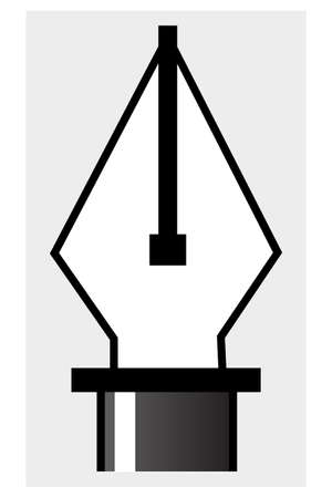 Pen tool, a symbol for  illustrations and drawings, especially vector files Vector