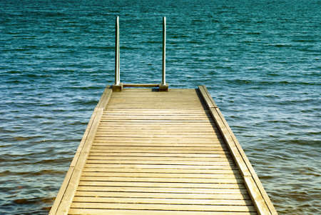 Swim platform with ladder against Baltic sea in the background Stock Photo - 10348073