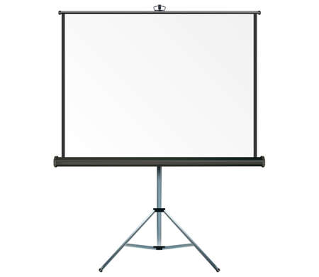 projection screen: Screen with copy-space, place your own text or images on the projection screen