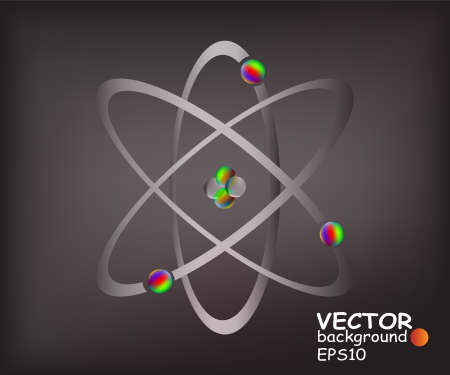 Simplified model of an atom with protons, neutrons and electrons Stock Vector - 11317406