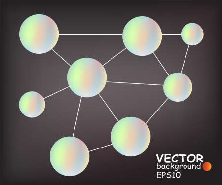 Abstract symbolic image for the network Stock Vector - 11317413