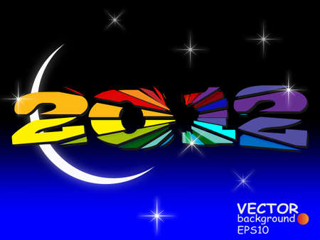 New year 2012 in colorful background design. Stock Vector - 11572712