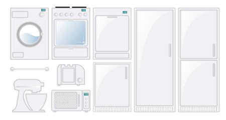 Kitchen appliances in a fresh modern style Vector