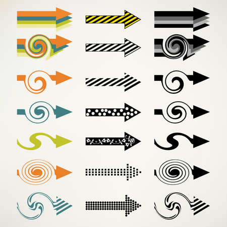 leading: Vector elements, retro arrow shapes, use them for your own designs