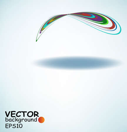 Colorful curves forming abstract patterns, vector with copy-space Stock Vector - 11872681