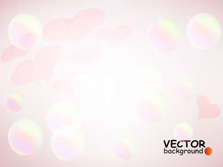 Romantic background with hearts and bubbles, eps10 vector Stock Vector - 11872686