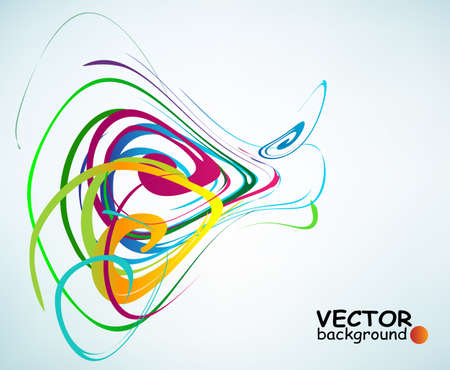 Colorful curves forming abstract patterns, vector with copy-space Stock Vector - 11854652