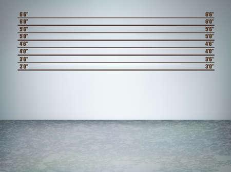 Antecedentes de una rueda de reconocimiento policial, ilustración vectorial con copia espacio
