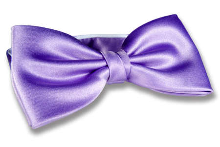 Close-up of purple bow-tie isolated on white background Stock Photo - 12048057