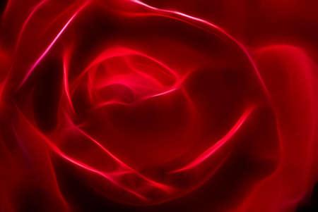 efectos especiales: resumen de la rosa roja, foto con gr�ficos de efectos especiales Foto de archivo