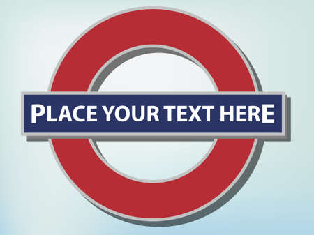 The famous London Underground sign Vector