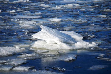 Landscape of ice floes in the blue sea Stock Photo - 12937419