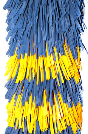 wash: Close up of automatic car wash brushes Stock Photo